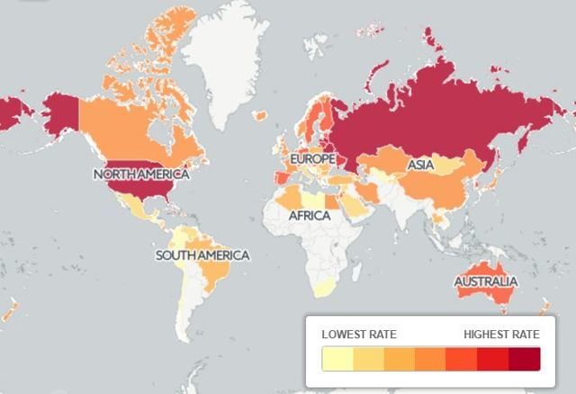 Статистика разводов по странам мира, и почему процент расторжений брака такой боьшой